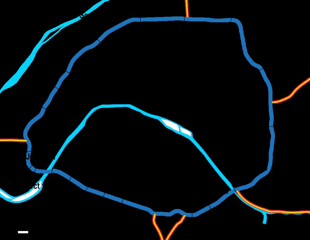 Carte des mises en service par sections, de 1962 à 1973