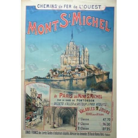 Original vintage poster Mont St Michel Chemin de fer de l'ouest ...