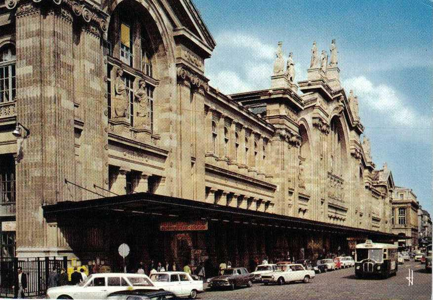 PARIS-Gare-du-nord-carte-postale-ancienn