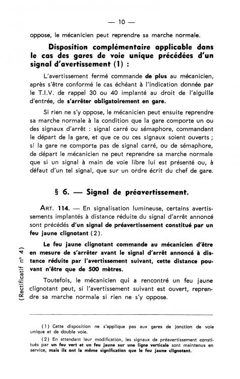 SNCF Règlement Générale de Sécurité. Titre I- Signaux. 1960. Rectificatif nº 4 (1970) 02.png