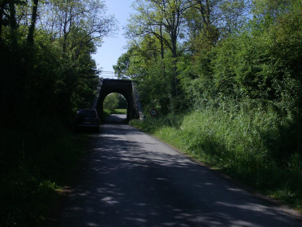 le dernier viaduc de la ligne Mayenne - La Chapelle Anyhenaise avant la jonction avec la ligne Le Mans - Laval - Rennes.JPG