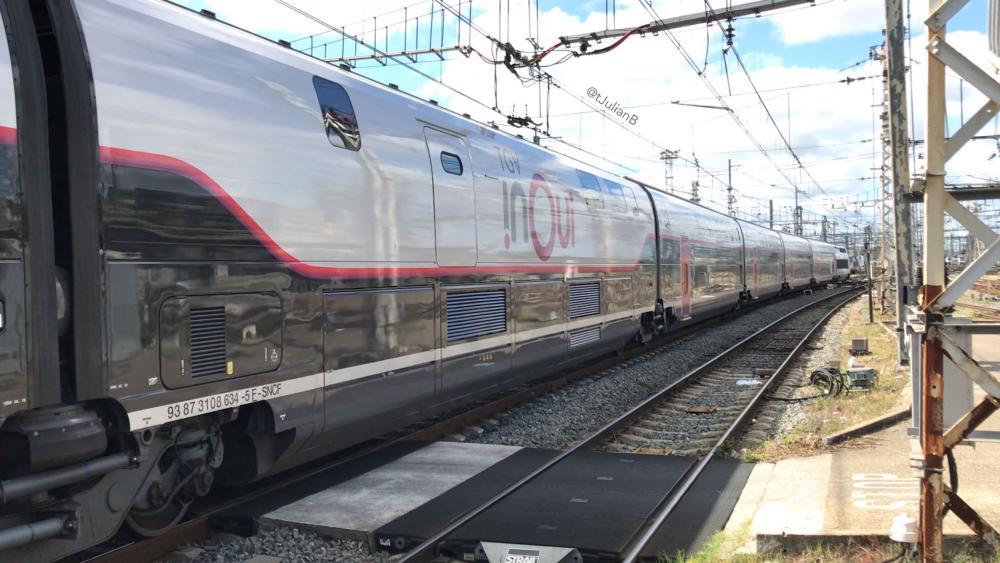 Livrée R4, TGV 3UF 863 à Bordeaux Saint-Jean le 2 Juillet 2017